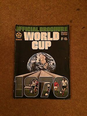 Vintage World Cup 1970 Official Brochure