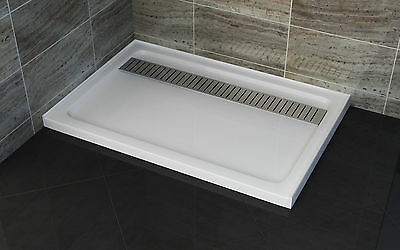 900x1800mm Shower Base With Stainless Steel Channel Grate DIY