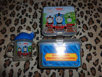 new thomas the tank cup & 2 double sandwich containers