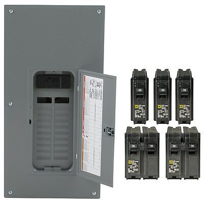 Electrical Panel Square D 40-Circuit 20-Space 200-Amp Main Breaker Load Center