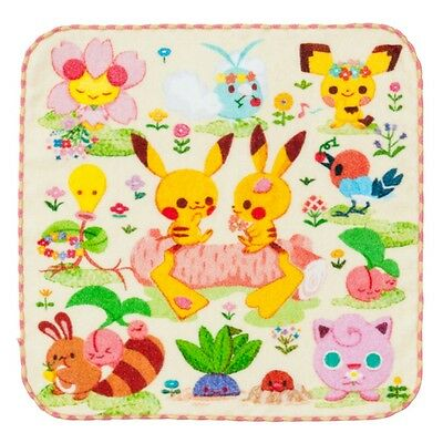[Premium] [Japan Pokemon Center Limited] Hand towel Spring color stump Pikachu