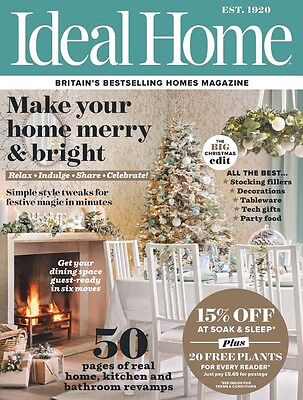 Ideal Home Magazine January 2017 (BRAND NEW COPY)