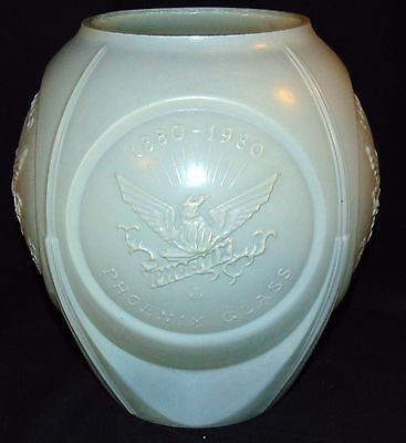 Consolidated PHOENIX GLASS* IVORY PEARL* 1890-1990 100th ANNIVERSARY*VASE*