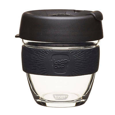 KeepCup Keep Cup Glass Coffee Tea Reusable Black/Chai Brew BUY 2 and SAVE $$