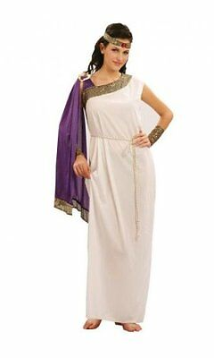 Ladies Fancy Dress Costume Goddess purple cape Toga Party Rome Sparticus