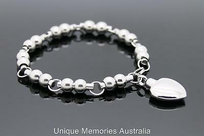 Silver Linked Spheres & Heart Cremation Memorial Keepsake Funeral Urn Bracelet