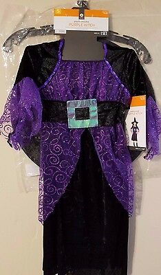 Youth Halloween Costume Purple Witch NWT Size Small Age 3+