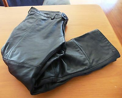 Torque Motorcycle Leather Pants Ce Hip & Knee Armour Size X/l Near New