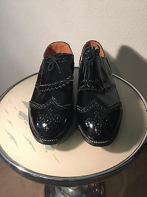 Golf Shoes full leather lining,patent leather, made in England BLK or BR