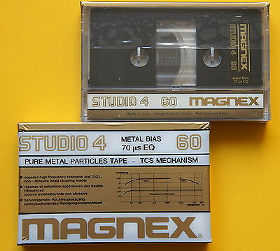 2x MAGNEX STUDIO 4 60 Metal Cassetten Tapes + NEW & SEALED + MADE IN ITALY +
