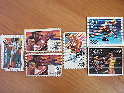 USA Olimpic (1984-3stamps)WorldCup USA 1994(ONE STAMP)USED