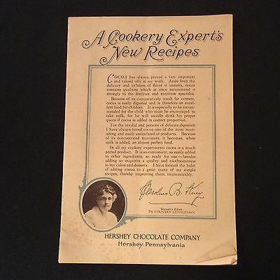 Vintage Hershey Chocolate Co. Recipes Booklet - Early 1920's