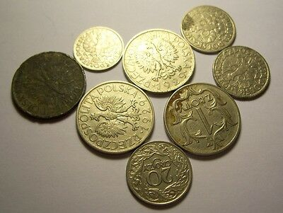 Pre WW2 set of antique Polish coins