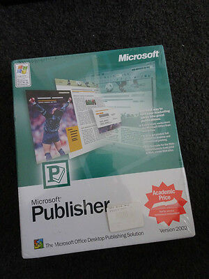 Microsoft Publisher Version 2002 (Software) Boxed, New and Sealed, Big box