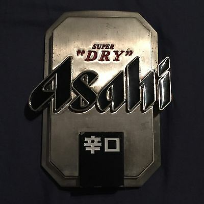 Asahi Beer Tap Badge, Decal, Top Great Condition
