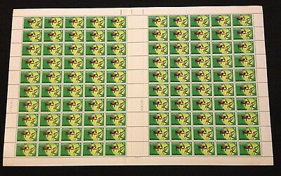 Hard to Find Full Sheet 100 Australian MNH 1970 Grassland Congress 5c Stamps