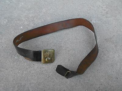 WW1 Original and Beautiful French Leather Belt with buckle