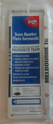 NEW! Official AFL Melbourne FC Team License Number Plate Surround NEW IN PACK