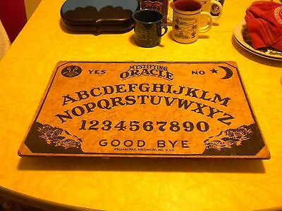 Vintage Original 1938-1950's Mystifying Oracle Board Only By William Fuld U.s.a.