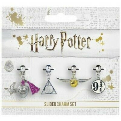 Harry Potter : SLIDER CHARM SET OF 4 From The Carat Shop