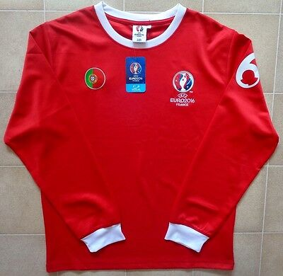 Official Euro 2016 Portugal Long Sleeve Leisure Jersey. Mens XL, BNWT.