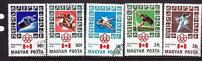 Hungary 1976 - Montreal Olympics Issues  CTO