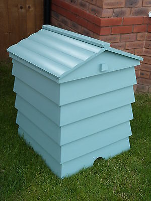 Stunning Beehive Compost Bin Wooden Garden Composter Recycling Bin storage box