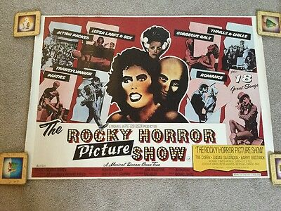 Rocky Horror Picture Show Quad Cinema Promotional Poster 1996