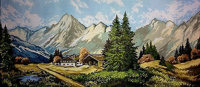 """Gobelin Tapestry Needlepoint Kit """"Landscape"""" hand embroidery printed canvas 197"""
