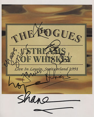 The Pogues (Band) Signed Photo Genuine In Person Shane MacGowan