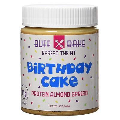 NEW Buff Bake 11g Protein Almond Butter Birthday Cake Spread Snack Natural CHOP