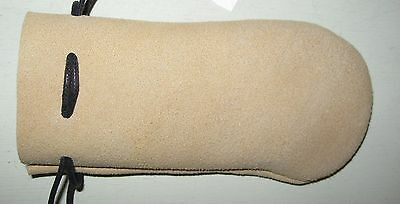 Lcp-03 Tan Deerskin Leather Coin Pouch Or Bag Free Shipping In Usa.