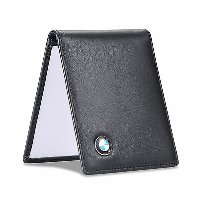 new BMW Black Driver License Holder Genuine Leather with a Front Card Slot Case