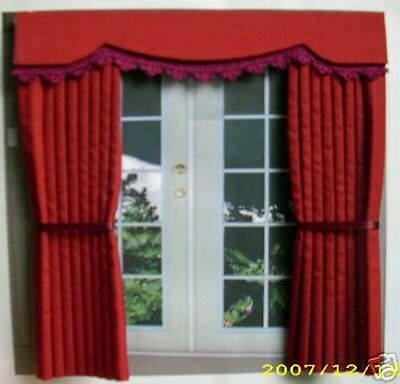 Dollshouse Curtains Deep Red Outside Bay