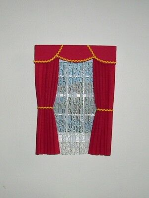 Dolls House Curtains Red And Gold