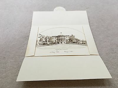 1977 Official Large White House Christmas Card / Print - President Jimmy Carter