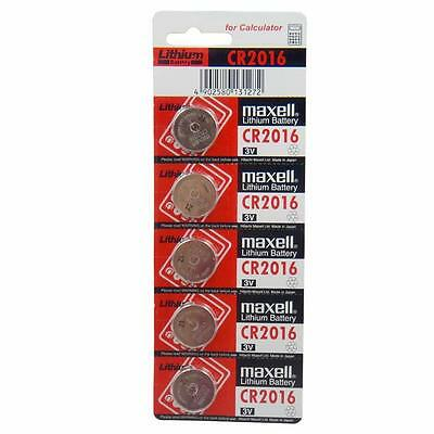 Maxell 5x CR2016 3V Lithium Battery DL2016 Button Coin Cells Calculator Watch