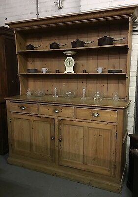 Luxurious Country House Victorian Pine Dresser Kitchen Cooking Farmhouse Antique