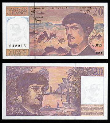Billet France - 20F Debussy - 1997 - G052 - NEUF