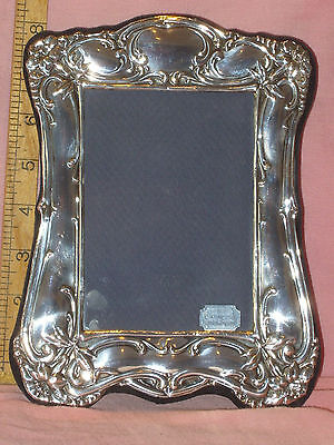 """Boxed & Unused  Hall Marked Solid Silver Photo Frame To Fit 4"""" X 5 1/2"""" Photo"""