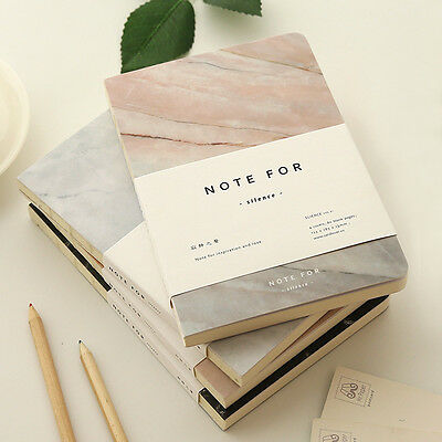 A5 Marble Blank Notebook Korean Stationery Journal Planner Diary Organizers