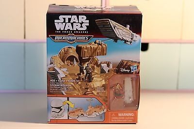 Star Wars The Force Awakens Micro Machines First Order Stormtrooper Play Set New