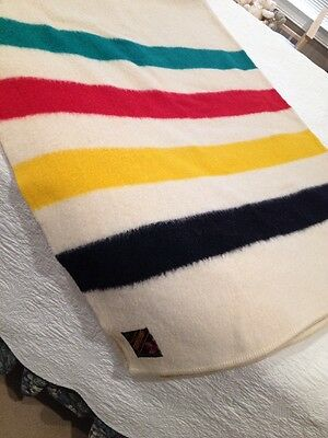 Trapper Point 4 Point Eaton's Wool Blanket Hudsons Bay stripes