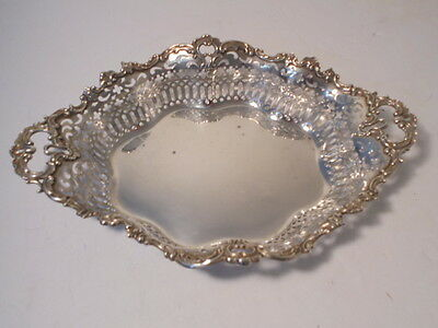 VINTAGE BIGELOW KENNARD & Co. STERLING SILVER BREAD BASKET / SERVING TRAY 1900's