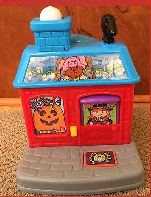Fisher-Price Little People Trick-or-Treat Halloween Lights Sound Playset House