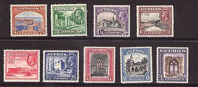 CYPRUS 1934 set to 9pi lightly hinged