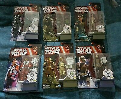 6 x Star Wars - The Force Awakens Figures - New & Sealed - RARE