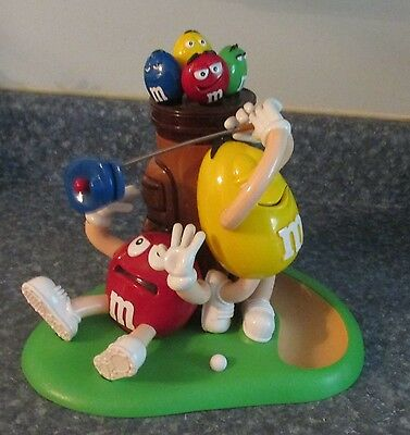 M&M'S® M&M Red & Yellow Character Golf Golfing Chocolate Candy Dispenser
