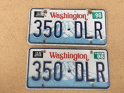 Washington License Plate Pair - 1987 Base - 350 DLR