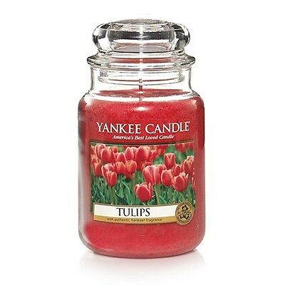 ☆☆Tulips☆☆ Large Yankee Candle Jar Brand New☆☆ Great, Soft Sweet Tulip Scent
